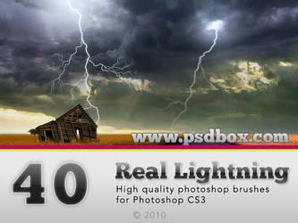 40 HQ Lightning Bolt brushes by Andrei-Oprinca