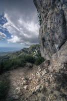 Mountain path background