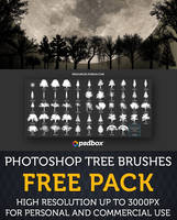 Tree Brushes High Resolution FREE PACK by Andrei-Oprinca