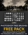 Tree Brushes High Resolution FREE PACK