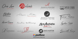 Free Photograghy Logos Pack (Fonts included)