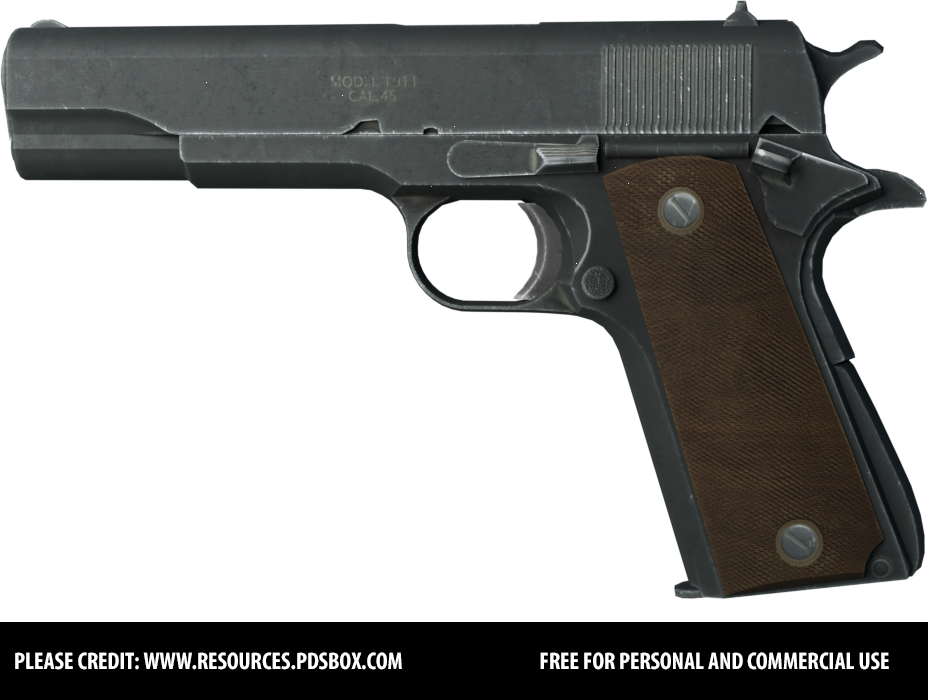 Colt Pistol - Free PNG Stock by Andrei-Oprinca