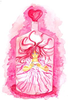 . love bottle .