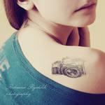 Camera tattoo by SuperSzajs