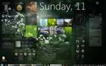 rainmeter + rainlendar desktop