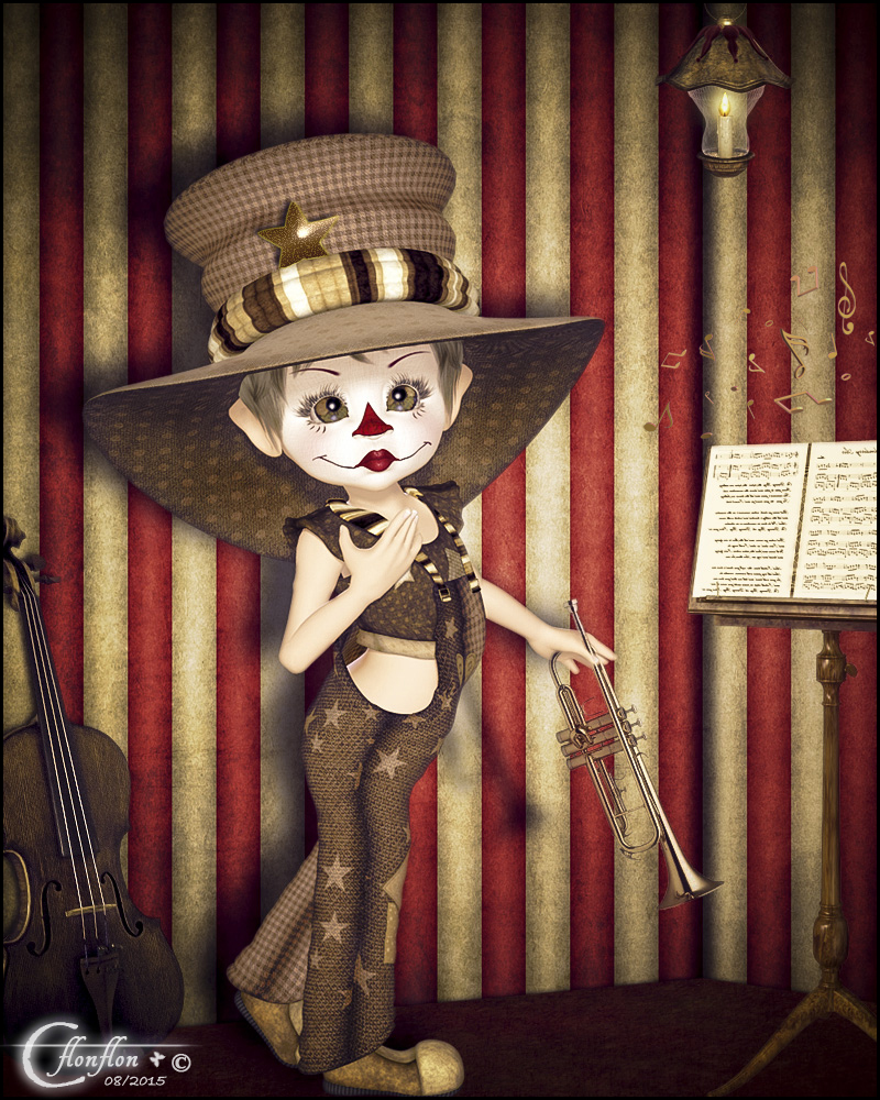 Clown  musique by cflonflon