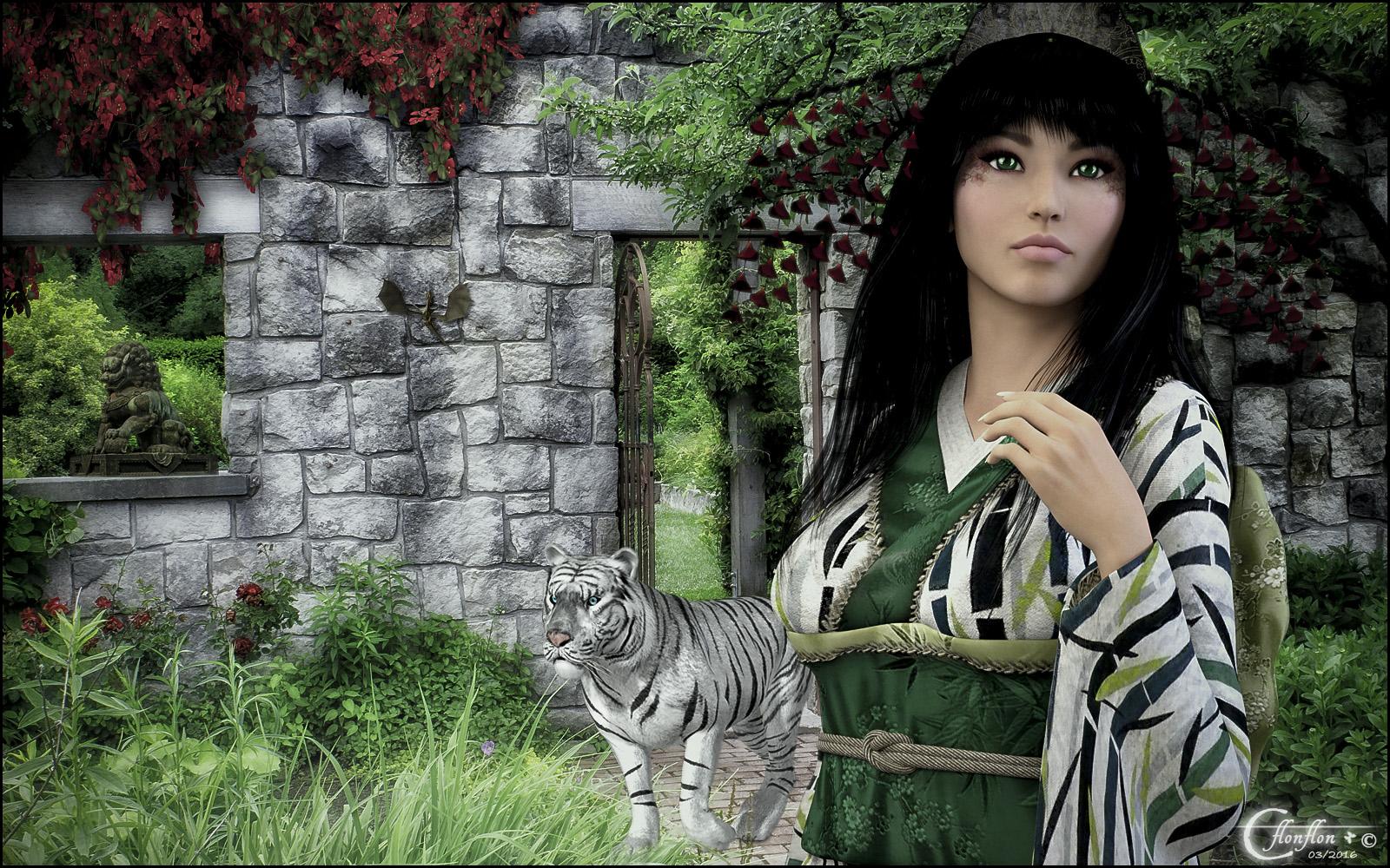 Tigre blanc et Lady