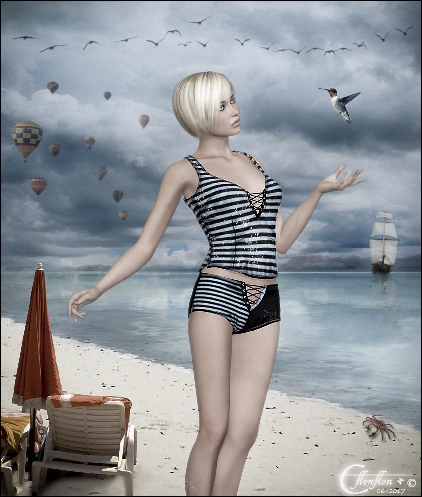 A la plage by cflonflon
