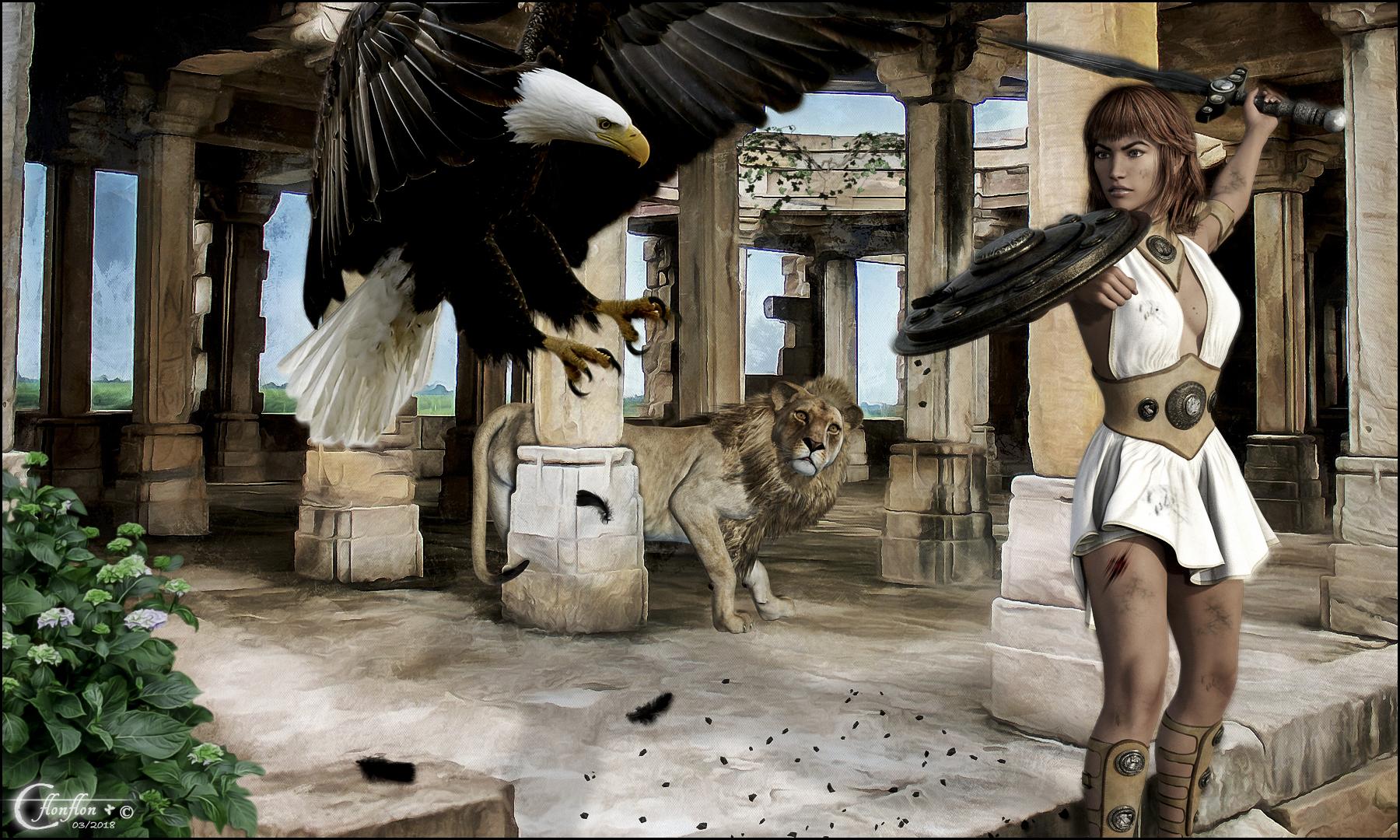 Aigle et Gladiateur