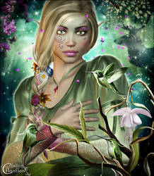 Elfe enchantee by cflonflon