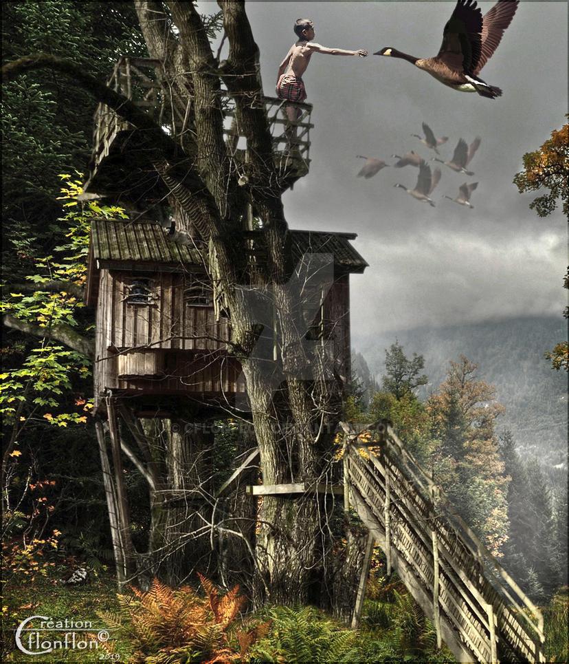 L'enfant Et L'oiseau by cflonflon