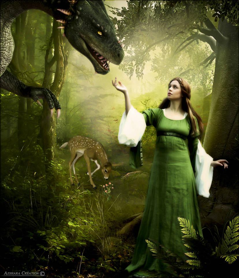 Nuala et le dragon by cflonflon