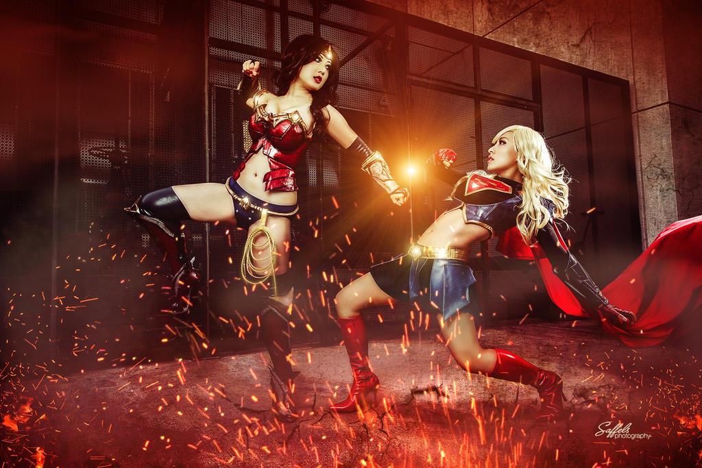 Wonder Woman vs Supergirl by StellaChuu
