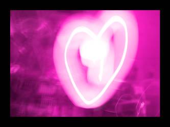 Heart Pink Light by PrincessTia