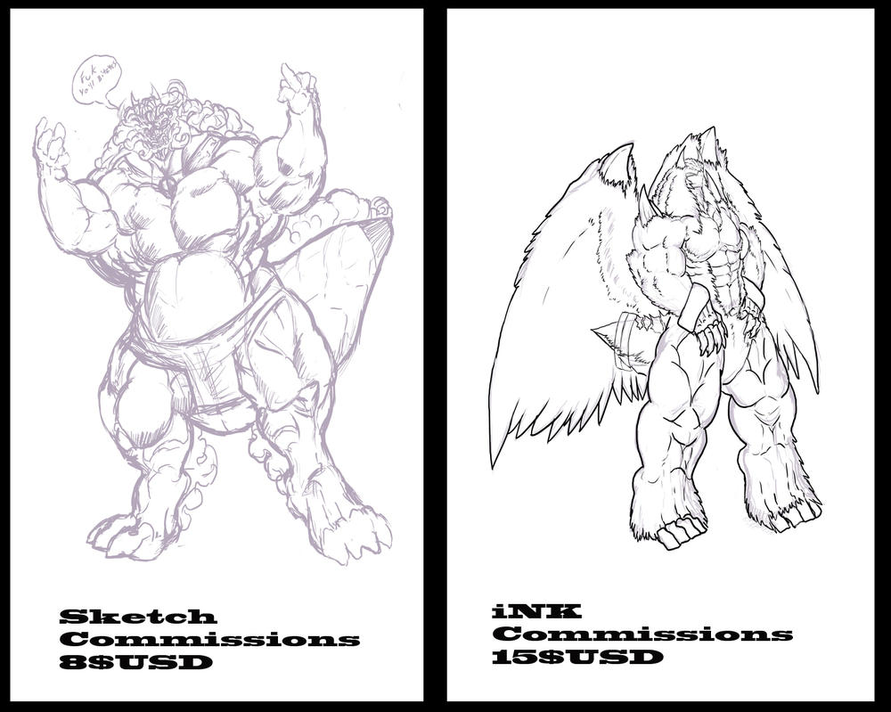 Commission Sketch and Ink prices by exuitirteiss