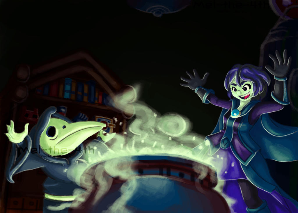Plague knight  and Mona by Mel-The-4th