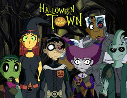 Teen Titans in Halloween Town by TonicShadow