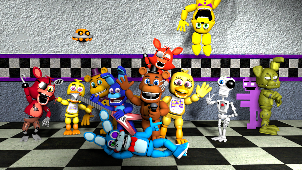 Freddy Fazbear And His Friends! By SFMBeatrus On DeviantArt