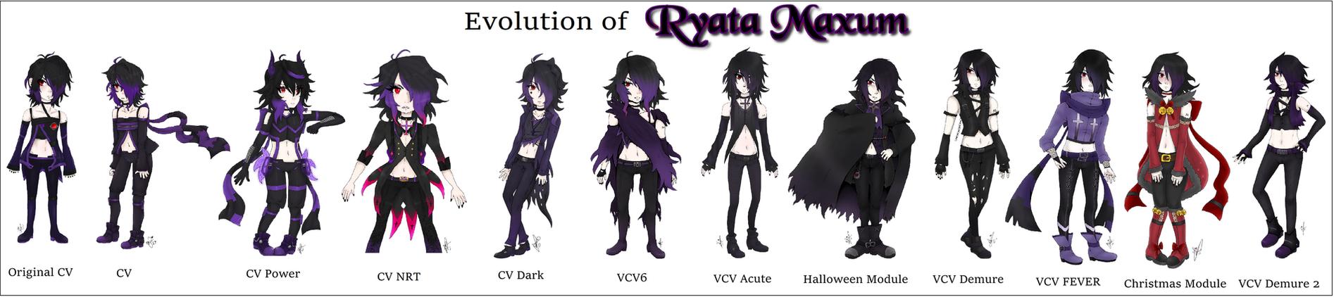 Evolution Of RYATA MAXUM - (UTAU 10th Anniversary) by Ayatonic