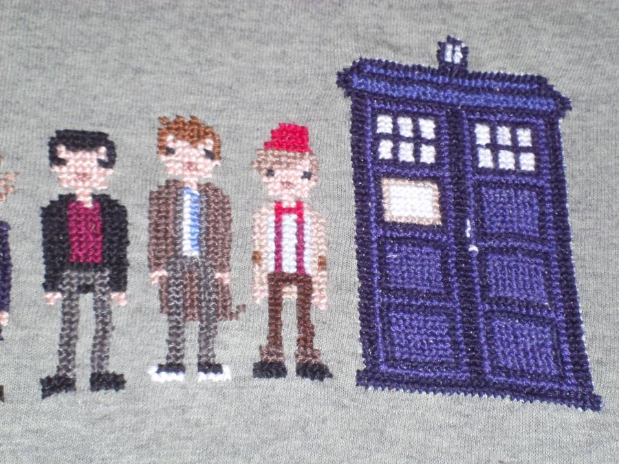 Dr Who Cross Stitch Shirt Pt3 by JealaTriumph