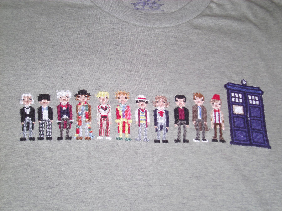 Dr Who Cross Stitch Shirt Pt4 by JealaTriumph
