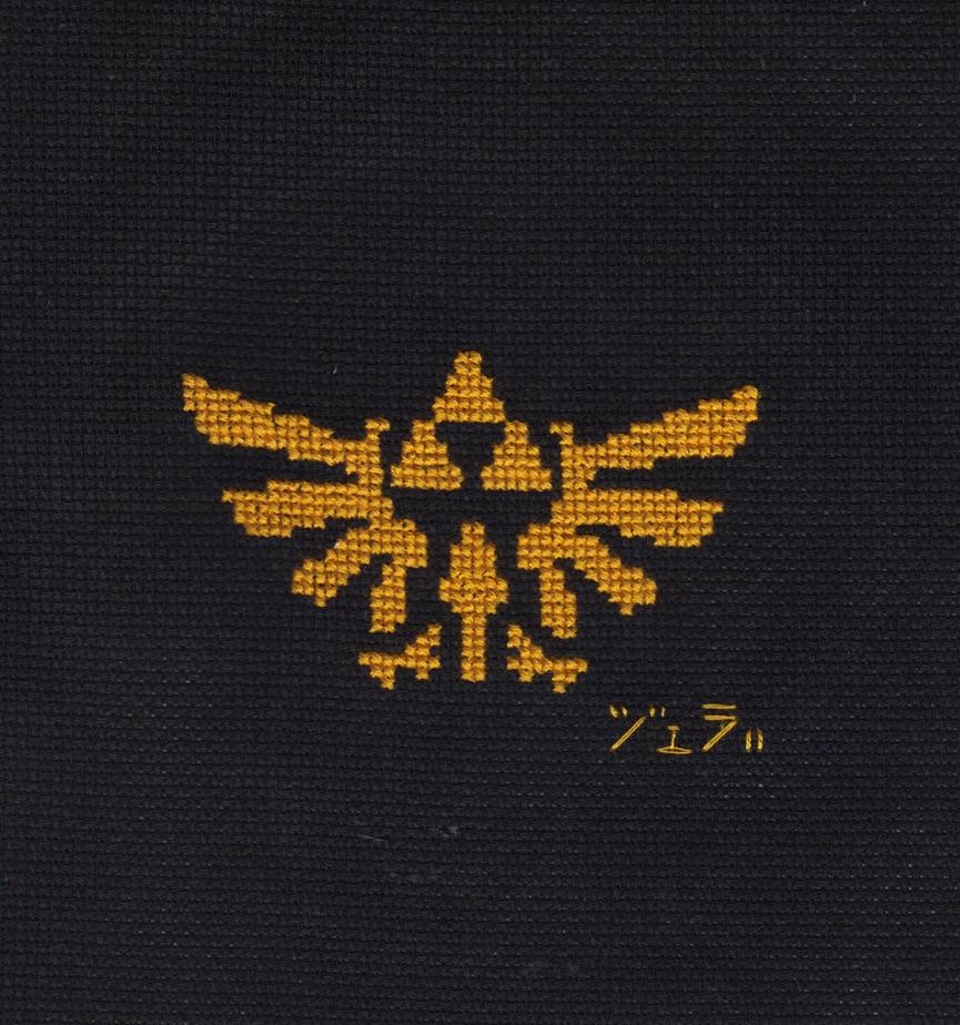 Hylian Crest Cross Stitch by JealaTriumph