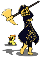 Gold Golfer by TheWIPartist