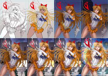 Sailor Venus progress by magion02