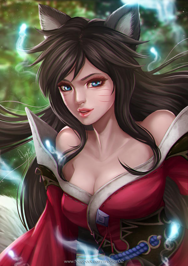 Ahri League of Legends by magion02