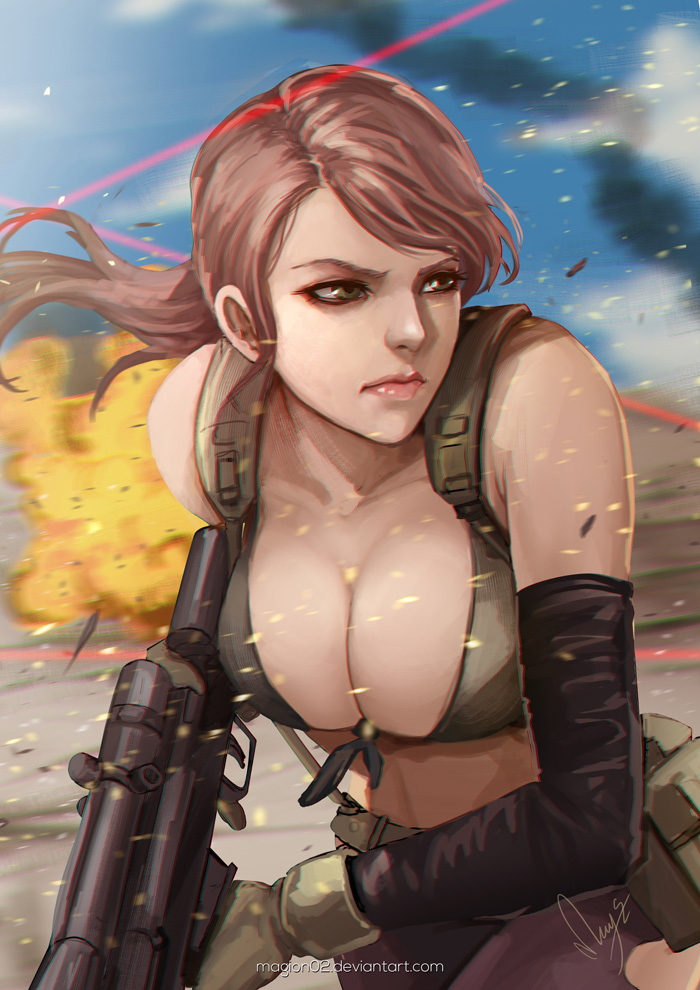 Metal Gear Solid V Quiet by magion02