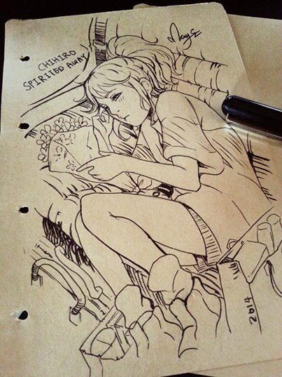 Chihiro Spirited Away Inktober by magion02