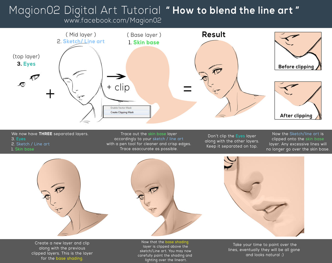 Tutorial coloring over your lineart by cgcookie on deviantart how to blend line art tutorial by magion02 baditri Image collections