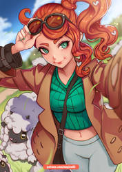 Sonia Pokemon Sword and Shield by magion02