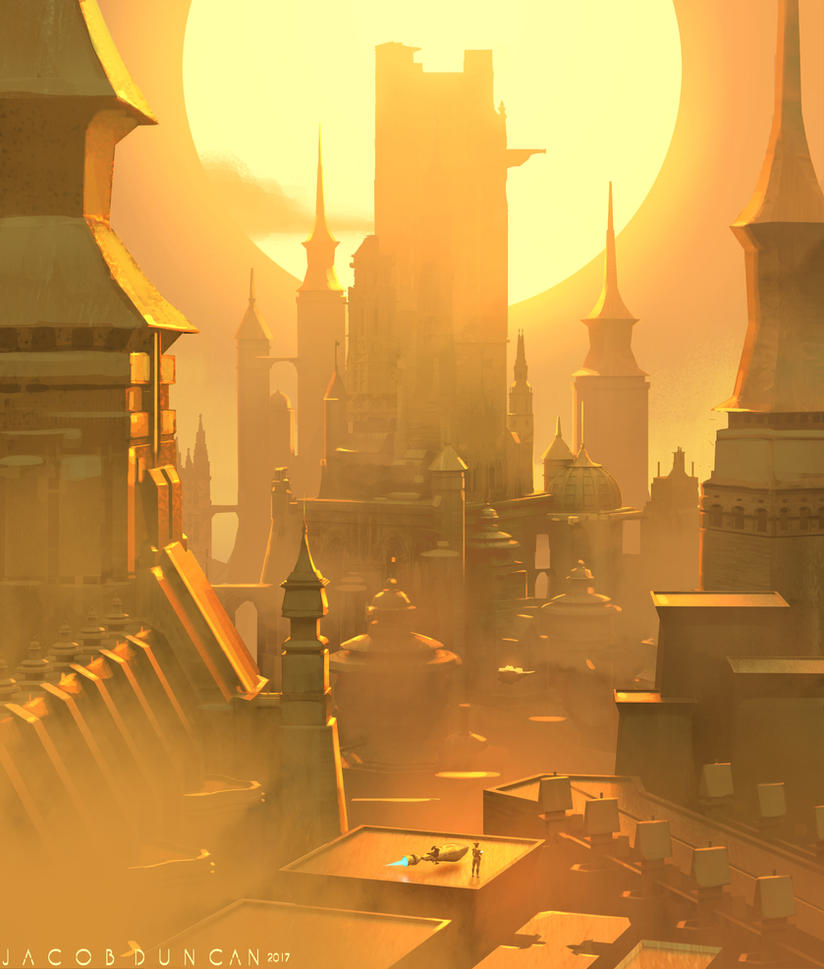 Golden City by Jacob-Duncan