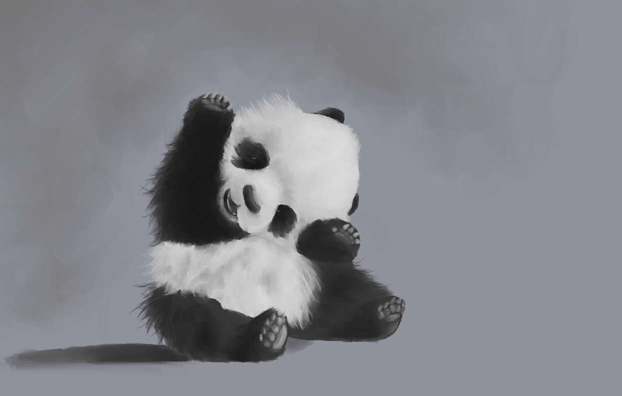 Cute Little Panda By ViniciusGuerra