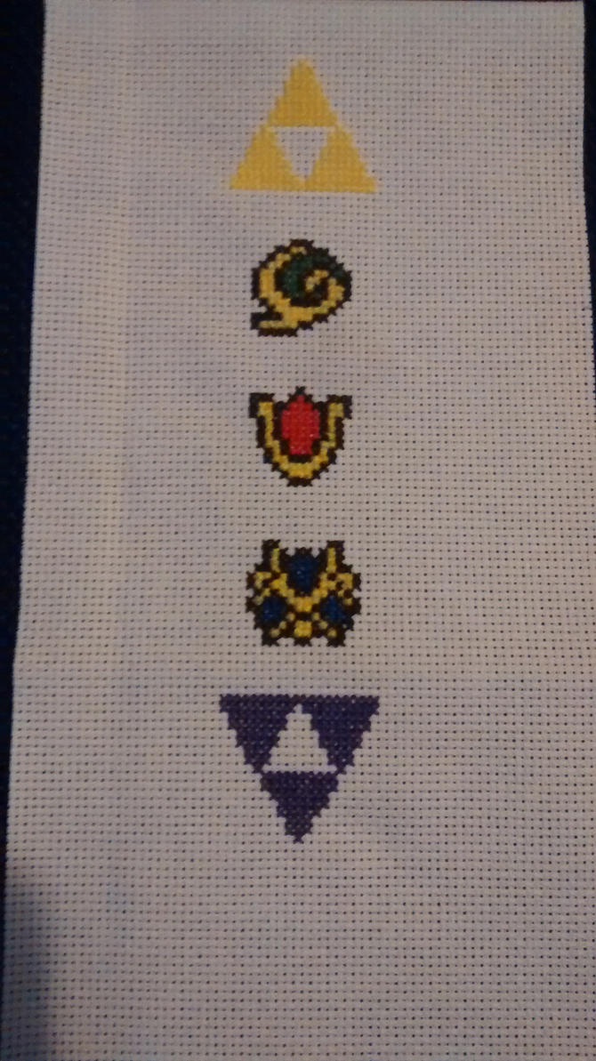 Legend of  Zelda Bookmark Cross Stitch WIP by Vande-Bot