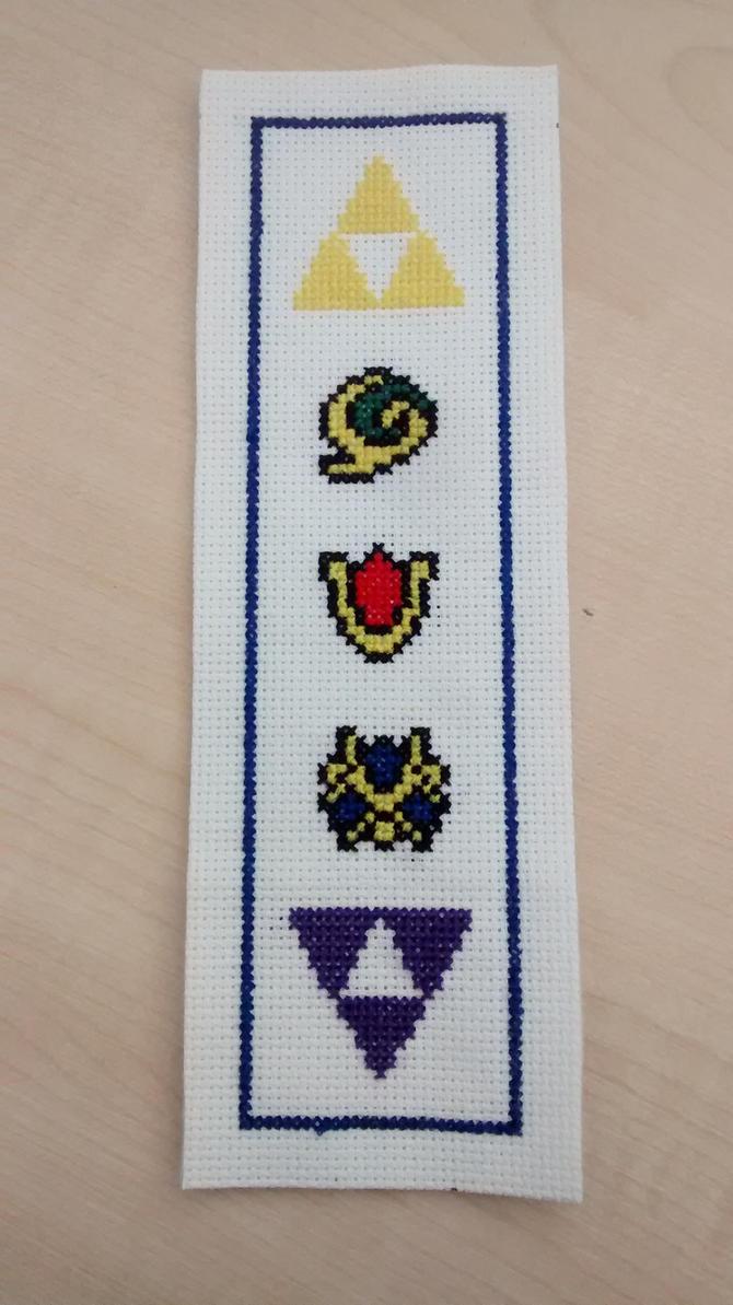 Legend of Zelda Bookmark Cross Stitch Complete by Vande-Bot