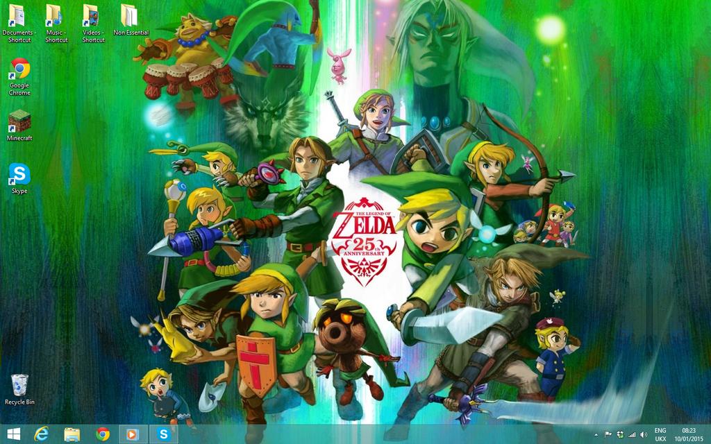 Legend of Zelda Desktop by Vande-Bot