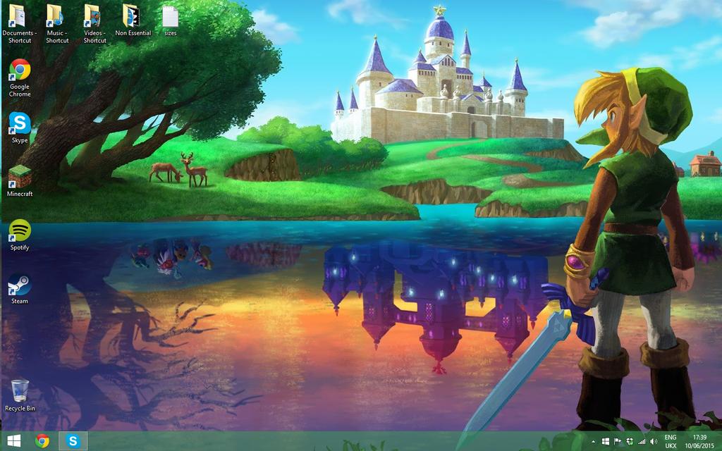 Legend of Zelda - Link Between Worlds Wallpaper by Vande-Bot