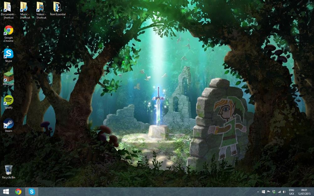 Legend of Zelda - Link Between Worlds Wallpaper 2 by Vande-Bot