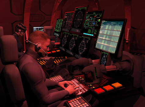 Callisto Mission Spacecraft Flight Control Station