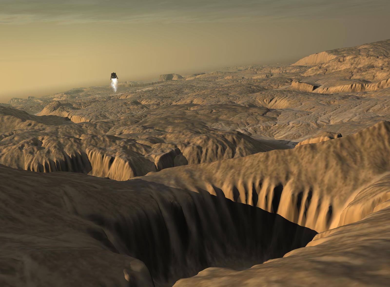 Celestia screenshots gallery/Mars - Noctis Labyrinthus