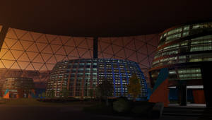 Under The Domes at Nightfalls Edge by William-Black