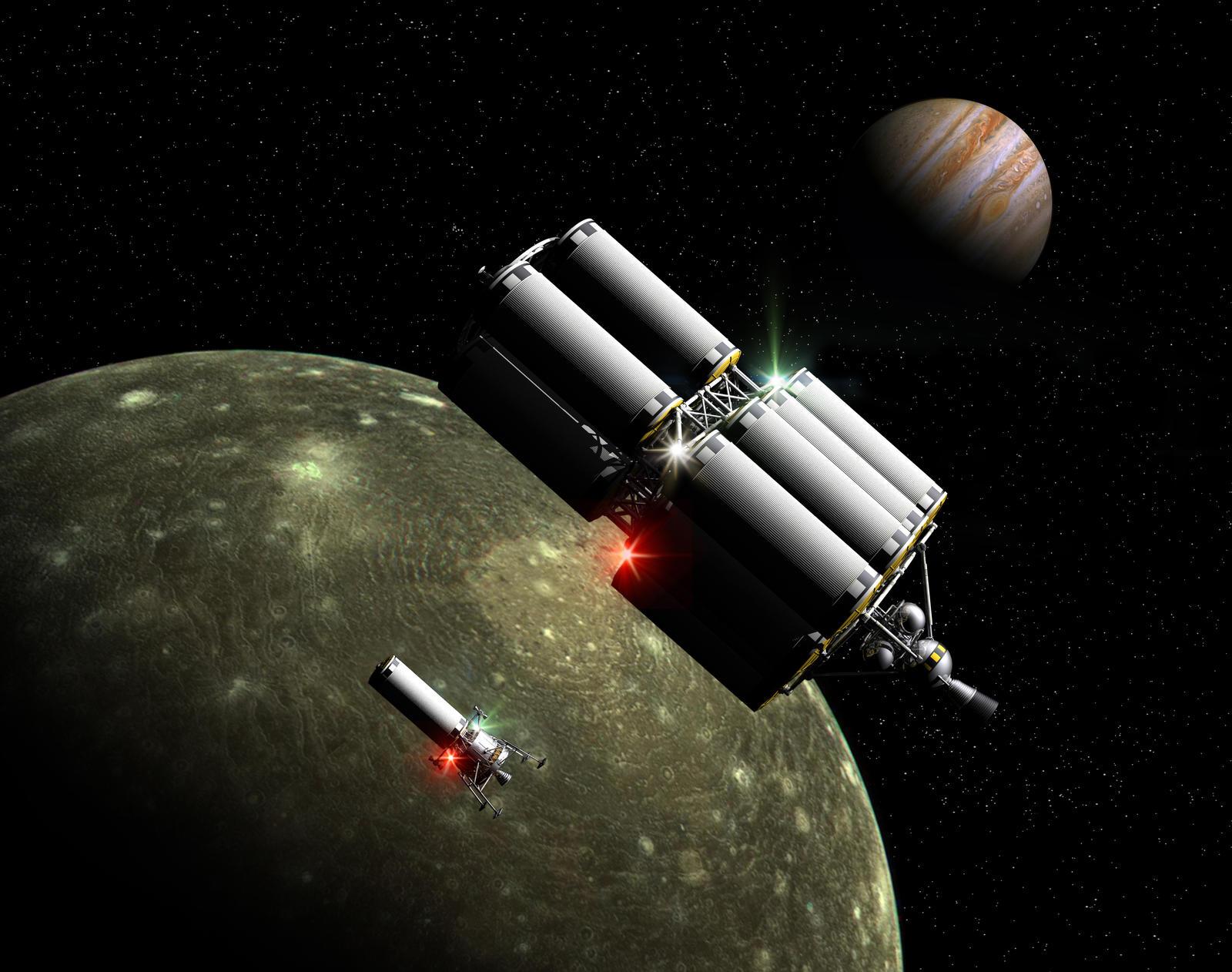 Lighter and Tanker Callisto Orbit