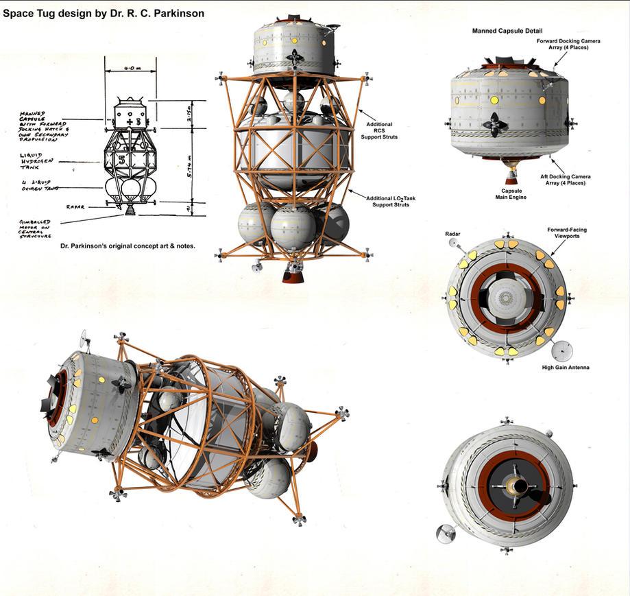 Dr. R. C. Parkinson Space Tug by William-Black on DeviantArt