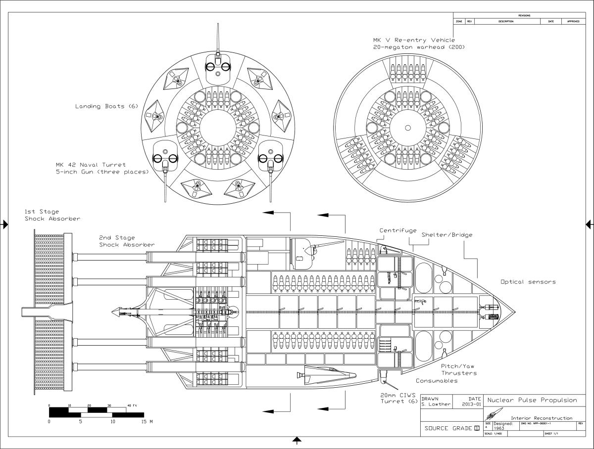 USAF Orion Battleship Interior Detail