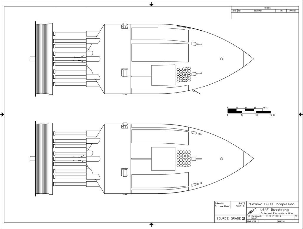 USAF Orion Battleship Exterior by William-Black