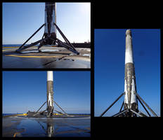Space X: First landed GTO-class mission booster