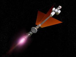 Earth Orbit Escape Burn with Radiator SFX by William-Black