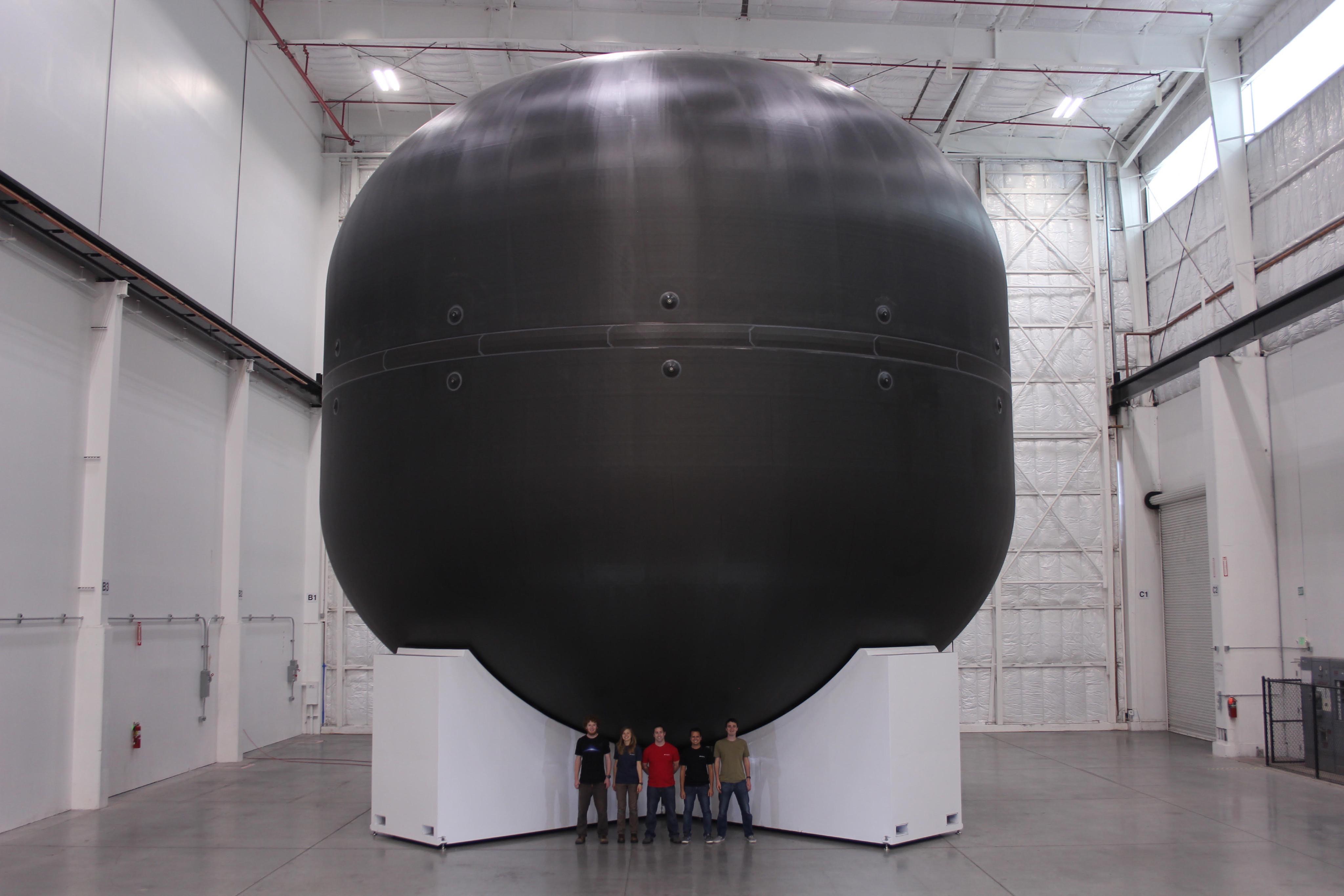 SpaceX ITS 12-Meter Carbon Fiber Cryotank
